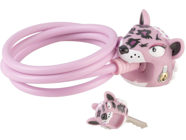 Crazy Safety Leopard Cykellås 120/8 pink